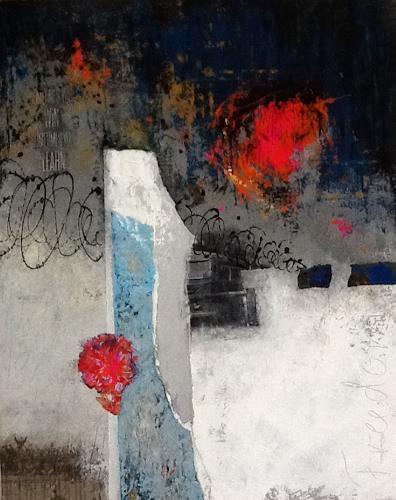 Christa Wetter, Aufbruch in eine neue Zeit, Society, Abstract Art, Expressionism