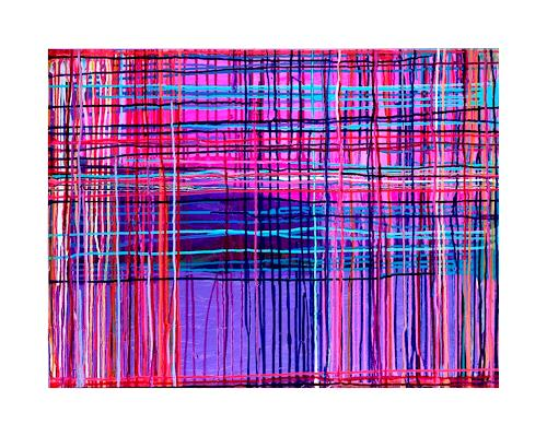 anne samson, dripping, pink, lavendel, Abstract art, Abstract art