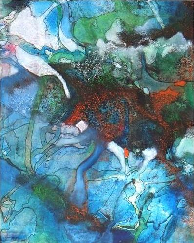 Helga Matisovits, Monde illusoire I, Abstract art, Romantic motifs, Abstract Expressionism