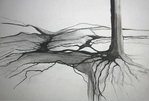 Helga Matisovits, Verwurzelt, Plants: Trees, Miscellaneous Landscapes