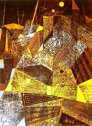 Helga Matisovits, Kubistische Stimmung, Miscellaneous Buildings, Interiors: Cities, Abstract Expressionism