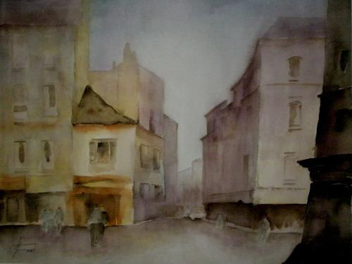 Helga Matisovits, Die Stadt erwacht, Buildings, Interiors: Cities, Expressionism