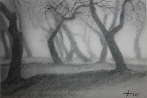 Helga Matisovits, Baumgestalten, Nature: Wood, Plants: Trees, Abstract Expressionism