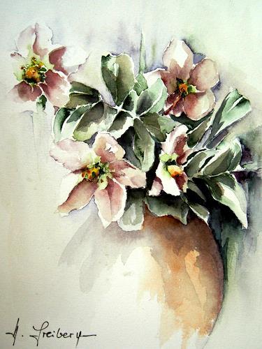Helga Matisovits, Ein Blumengruß, Plants: Flowers, Still life