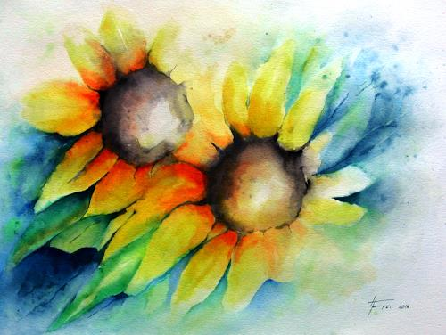 Helga Matisovits, Der Sonne entgegen, Nature, Plants: Flowers