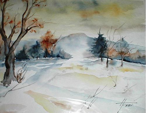 Helga Matisovits, Adventstimmung, Nature, Landscapes: Winter, Expressionism