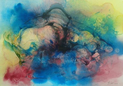 Helga Matisovits, FREIHEIT - eine schwere Geburt, Emotions, Movement, Abstract Art, Expressionism