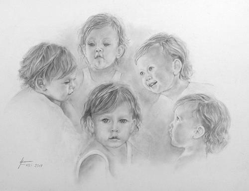 Helga Matisovits, Portraitstudien eines Kleinkindes, People: Children, Miscellaneous Emotions, Photo-Realism
