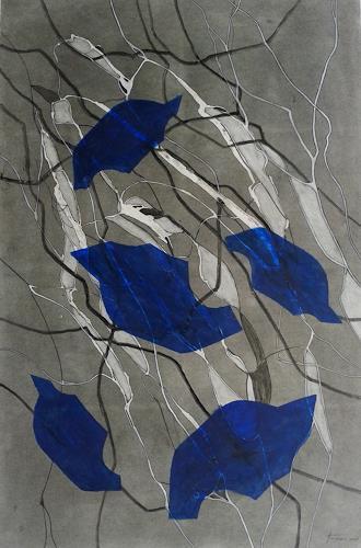 Helga Matisovits, Komposition in Blau, Abstract art, Movement, Abstract Art