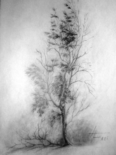 Helga Matisovits, Besinnung, Landscapes: Winter, Plants: Trees, Realism, Expressionism