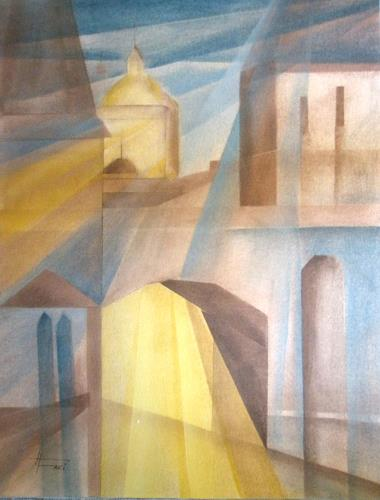 Helga Matisovits, Lichtblick, Miscellaneous Buildings, Miscellaneous Romantic motifs, Abstract Art, Expressionism