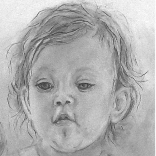 Helga Matisovits, Portraitstudie 2, People: Portraits, People: Children, Abstract Art
