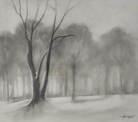 Helga-MATISOVITS-Landscapes-Plants-Trees-Modern-Age-Abstract-Art