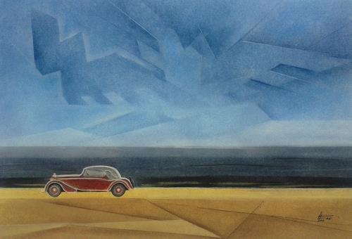 Helga Matisovits, WANDERER, Traffic: Car, History, Abstract Art