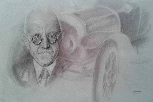 Helga Matisovits, Horch/Audi - Rückblick 1910, People: Portraits, Traffic: Car, Abstract Art