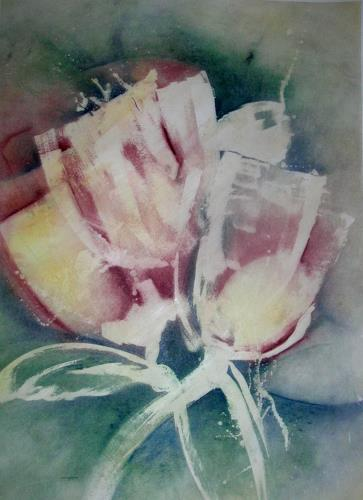 Helga Matisovits, Gläserstrauß, Fantasy, Plants: Flowers, Abstract Art