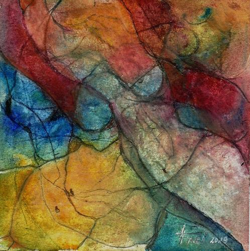Helga Matisovits, WOMAN'S BODY, Erotic motifs: Female nudes, Movement, Abstract Art, Expressionism