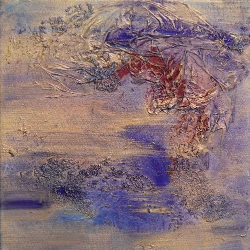 Deva Noori Lehmann, Breeze of Gold, Abstract art, Nature: Air, Expressionism