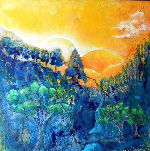 Antoinette Luechinger, Morgendämmerung, Landscapes: Mountains