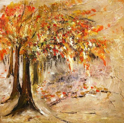 Antoinette Luechinger, Herbst, Landscapes: Autumn, Realism, Expressionism