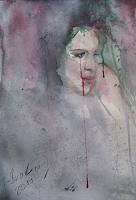 Sabine-Brandenburg-People-Women-Miscellaneous-Emotions-Modern-Age-Abstract-Art