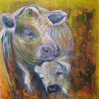 Sabine-Brandenburg-Animals-Land-Emotions-Love-Modern-Age-Expressive-Realism