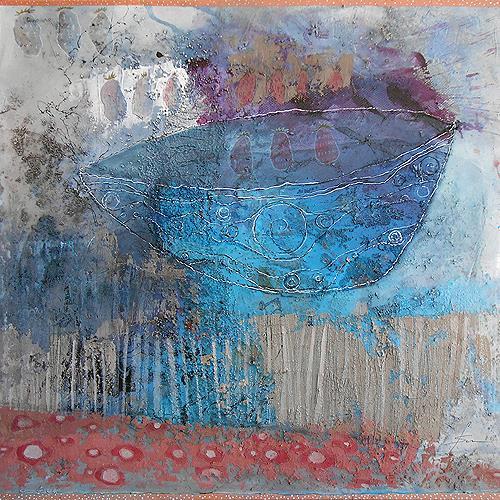 Franziska Schmalzl, Casting der Erdbeeren, Meal, Primitive Art/Naive Art, Expressionism