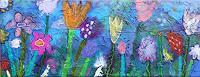 Franziska-Schmalzl-Plants-Flowers-Modern-Age-Primitive-Art-Naive-Art