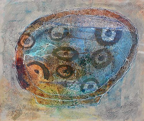 Franziska Schmalzl, Schale aus Australien, Still life, Decorative Art, Primitive Art/Naive Art