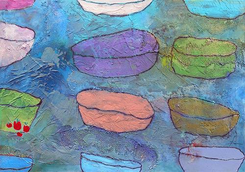 Franziska Schmalzl, Äpfel als Deko, Still life, Decorative Art, Primitive Art/Naive Art