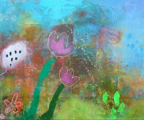 Franziska Schmalzl, Kleine Philosophie der Tulpen, Plants: Flowers, Miscellaneous Landscapes, Primitive Art/Naive Art