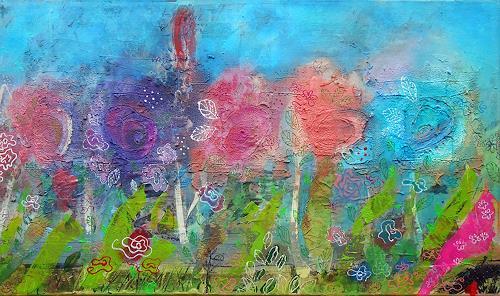 Franziska Schmalzl, Rosenkavaliere, Plants: Flowers, Landscapes: Spring, Primitive Art/Naive Art
