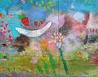 Franziska-Schmalzl-Meal-Plants-Flowers-Modern-Age-Primitive-Art-Naive-Art