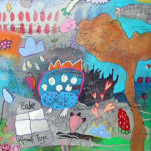 Franziska Schmalzl, Himmlische Knackwurst, Miscellaneous Landscapes, Harvest, Primitive Art/Naive Art