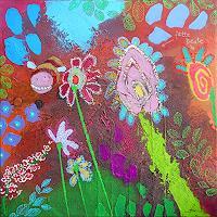 Franziska-Schmalzl-Landscapes-Summer-Animals-Air-Modern-Age-Primitive-Art-Naive-Art