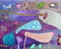 Franziska-Schmalzl-Animals-Symbol-Modern-Age-Primitive-Art-Naive-Art