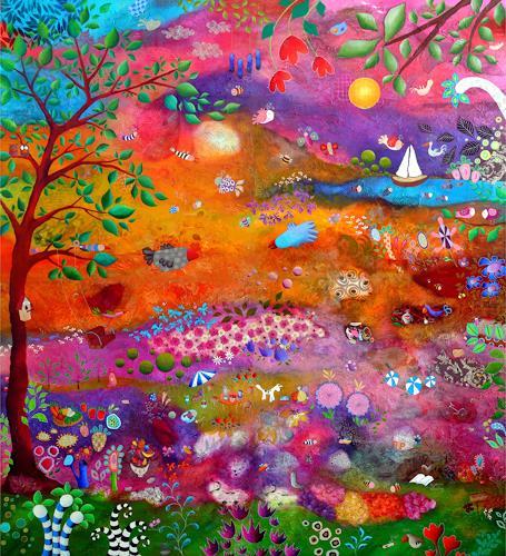 Franziska Schmalzl, Was dein Herz ersehnt, Landscapes, Fantasy, Expressionism