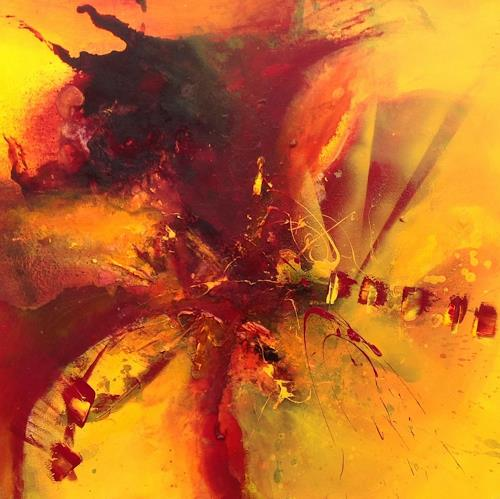 Ursi Goetz, Feurige Herausforderung, Abstract art, Abstract Expressionism