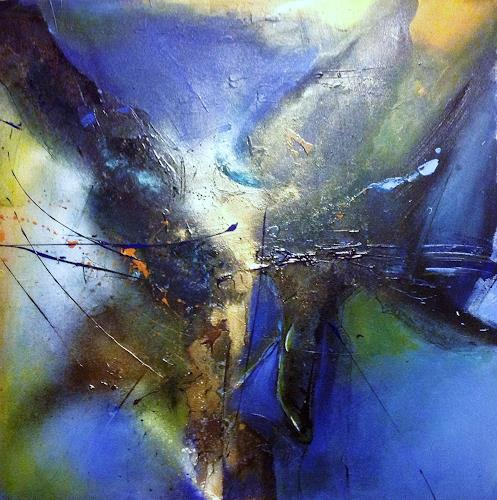 Ursi Goetz, Blaue Herausforderung, Abstract art, Abstract Expressionism