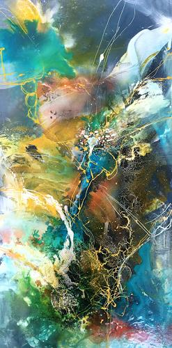 Ursi Goetz, Im Fluss, Abstract art, Mythology, Abstract Art, Abstract Expressionism