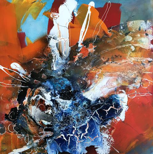 Ursi Goetz, Wo ist Nemo, Abstract art, Action Painting, Abstract Expressionism