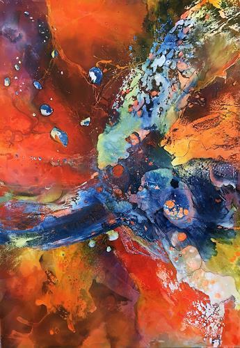 Ursi Goetz, Die Farben spielen, Abstract art, Fantasy, Action Painting, Abstract Expressionism