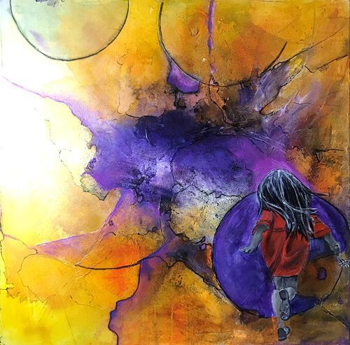 Ursi Goetz, Meine Welt, People: Children, Abstract art, Happening, Expressionism