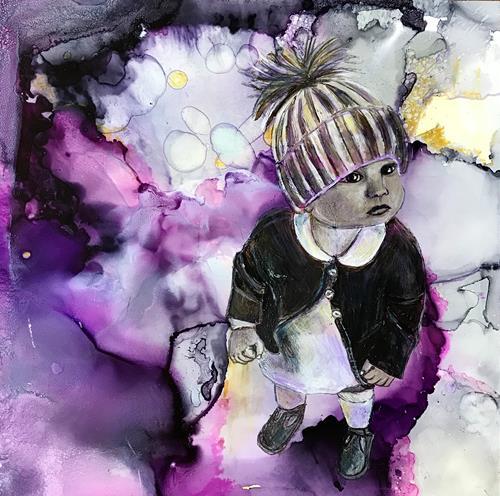 Ursi Goetz, IN IHRER WELT, People: Children, Abstract art, Contemporary Art, Expressionism
