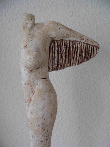 Renate Migas, Traum vom Fliegen, Erotic motifs: Female nudes, Fantasy, Contemporary Art, Abstract Expressionism