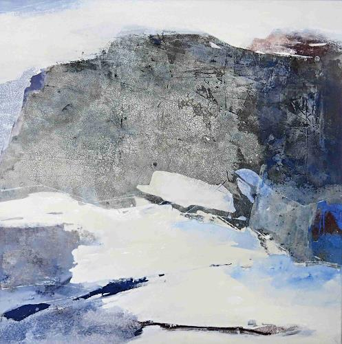 Renate Migas, Zerklüftet, Landscapes: Mountains, Landscapes: Winter, Contemporary Art, Expressionism