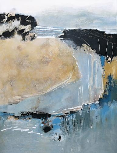 Renate Migas, blue lagoon, Landscapes: Beaches, Poetry, Contemporary Art