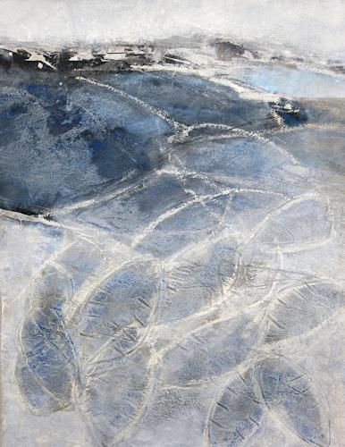 Renate Migas, Spuren, Landscapes: Winter, Poetry, Contemporary Art, Abstract Expressionism