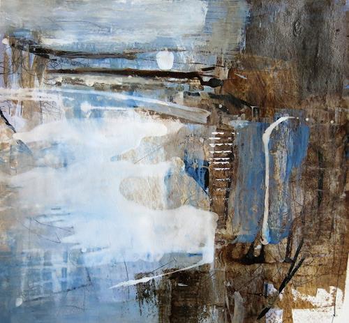 Renate Migas, Mondflüstern I, Landscapes: Winter, Poetry, Contemporary Art, Expressionism