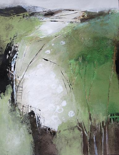 Renate Migas, behind the forest, Symbol, Poetry, Contemporary Art, Expressionism